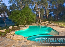 SPASA Awards Residential Concrete Natural Pool